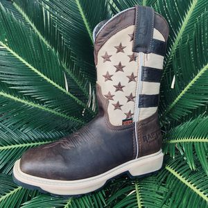 USA brown working boots (steel and non steel) for Sale in Houston, TX