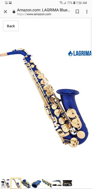 Lagrima Blue Eb Alto Saxophone (NEW) for Sale in Rancho Cucamonga, CA