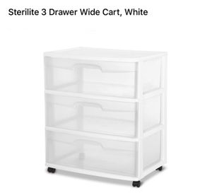 Nee 3 wide plastic drawers for Sale in Long Beach, CA