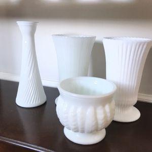 Vintage milk glass vases for Sale in Dulles, VA