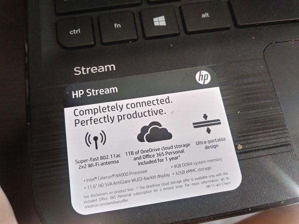 "11.6"" HP stream laptop travel pc computer mini"
