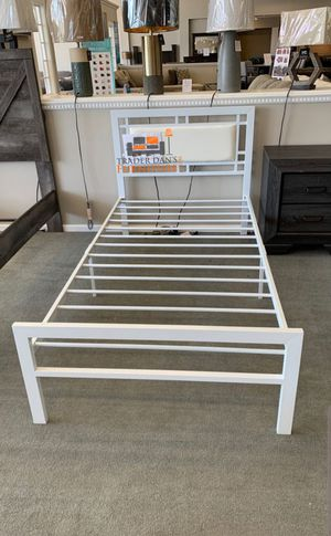 Brand New Twin Size White Metal Platform Bed Frame for Sale in Silver Spring, MD