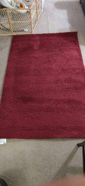 5X8 Merlot Shag Rug for Sale in Manchester, CT