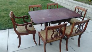 Vintage Antique Classical 8pc Dining Room Table & Chairs for Sale in Corona, CA