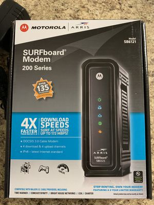 Motorola Arris cable modem. Model SB6121 for Sale in Humble, TX