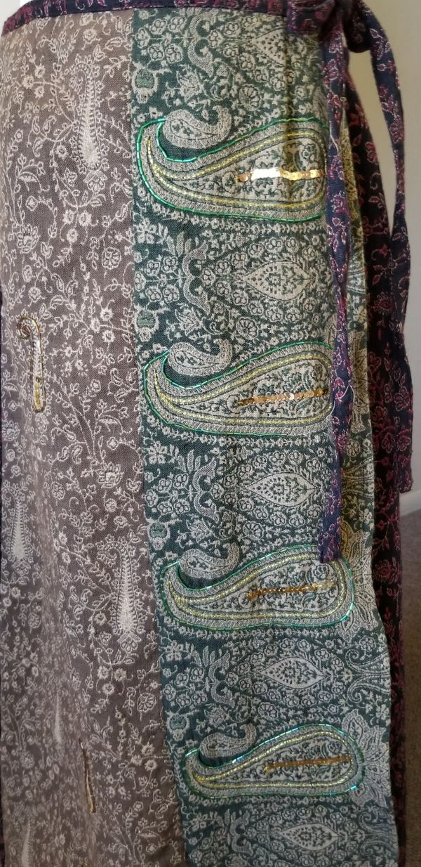 Long vintage embroidered skirt