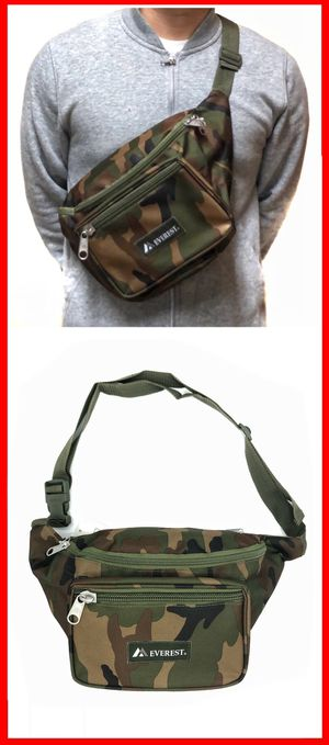 NEW! XL Camouflage Waist Hip fanny pack side cross body chest work school gym travel bag pouch for Sale in Carson, CA