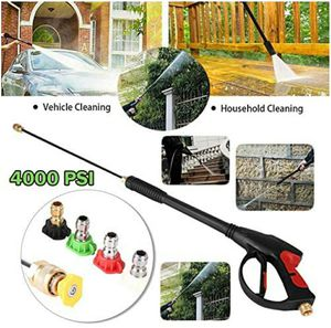 """High Pressure Washer Gun, 4000 PSI Spray Cleaner Adjustable Foam Cannon 1/2"""" BSP Washer Spray Gun with Extension Wand and 5 Nozzles Dust Wash Tool for Sale in Garden Grove, CA"""