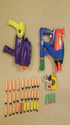 3 Nerf Guns and 34 bullets for Sale in Redmond, WA