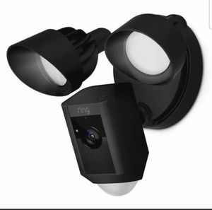 Ring Floodlight Camera Motion-Activated HD Security Cam Two-Way Talk Black New for Sale in TWN N CNTRY, FL
