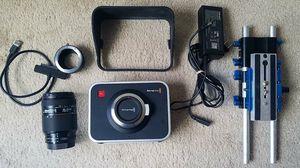 Blackmagic Design Cinema Camera (MFT) With 240GB SSD, Nikon Lens for Sale in Tacoma, WA
