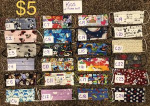 Adult and kids face masks price on pics for Sale in Norridge, IL