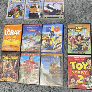 8 Kids Movies and 3 Mighty Machine dvds for Sale in Houston, TX