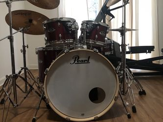 Pearl Export Fusion 5-Piece Drumset (Cymbals and Stands Included With Drums) for Sale in Manassas,  VA