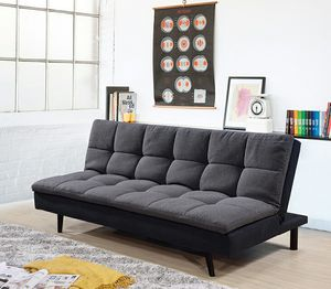 Dark grey futon sofa bed ( new ) for Sale in San Francisco, CA