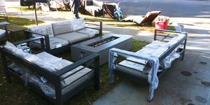 Brand new patio set with fire pit table all for $600 for Sale in Fresno, CA
