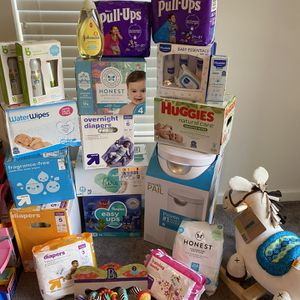 Pampers, Wipes, Diaper pail, Rocking Horse (various prices) for Sale in Brandywine, MD