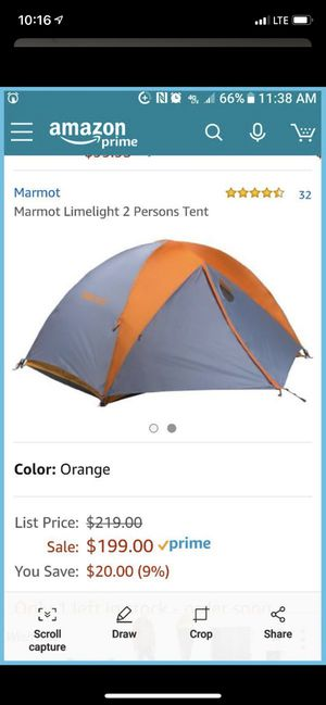 Marmot limelight 2P backpacking tent 3-Season for Sale in Puyallup, WA
