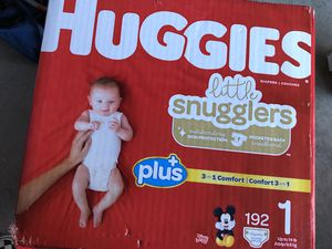 """Huggies Diapers sz 1, ct 192 """"NEW"""" for Sale in San Diego, CA"""