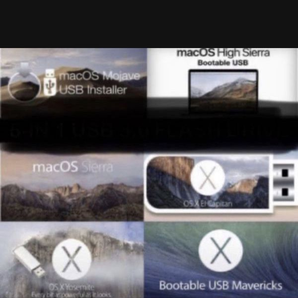 Any MacOS on a usb flash-drive for faster install! This flash drive does clean install or upgrade install