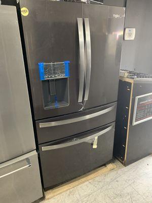 Brand new Whirlpool black stainless steel refrigerator 4 door for Sale in Santa Ana, CA