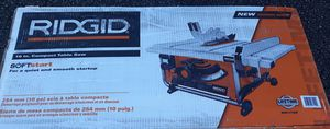 Ridgid 10-inch compact table saw for Sale in Greenville, SC