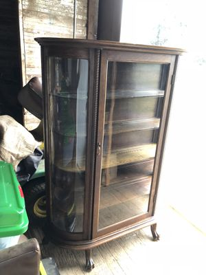 Solid Wood Hutch with Locking Glass Door for Sale in Beaverton, OR