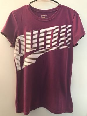 PUMA Logo Purple Short Sleeve Tee w White Wordmark for Sale in Portland, OR