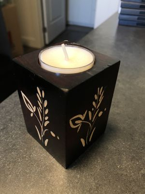 Wood candle holder for Sale in Rexburg, ID