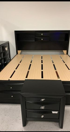 🔔IN STOCK Emily Black Storage Platform Bedroom Set for Sale in Silver Spring, MD