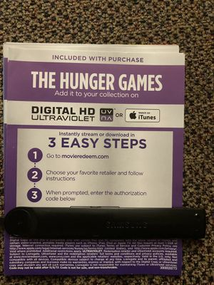 The hunger games 4K digital movie code for Sale in South Gate, CA