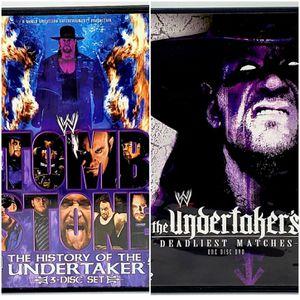 WWE Tombstone History of Undertaker (3 Disc) + Undertakers Deadliest DVD Lot for Sale in Harrisonburg, VA