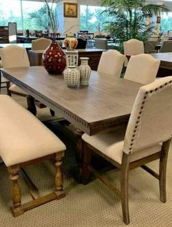 ♦️New Brand 💦Regent Grayish Brown 🌺Dining Room Set ▶️ for Sale in Silver Spring,  MD