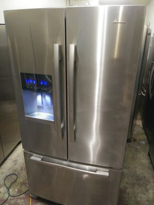 REFRIGERATOR AMANA FRENCH DOORS STAINLESS STEEL MODEL 2017 for Sale in Los Angeles, CA