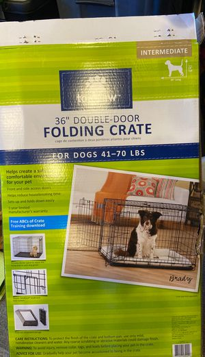 """Dog Crate / Cage Kennel Folding Double Door 36"""" for Sale in Huntington Beach, CA"""