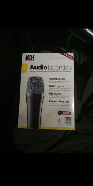 NCH Software Audio Essentials 2012 Edition for Sale in Houston, TX
