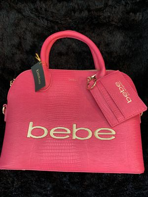 Brand New Bebe Brand Pink Bag / Purse with Removable Shoulder Strap & Gold Hardware for Sale in Fishers, IN