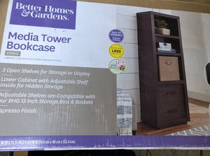 New Media Tower Bookcase for Sale in Marion, OH