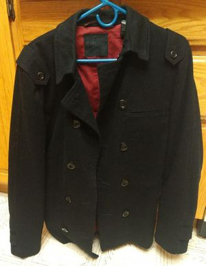 Men's Troy Smith D Collection Urban Outfitters Black Peacoat Size Medium Like New for Sale in Cupertino, CA