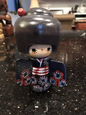 Wooden Japanese figurine - Hand Painted for Sale in Chantilly, VA