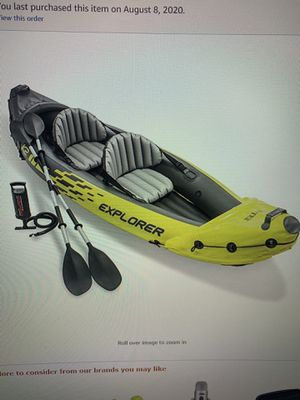 Intex explorer k2 kayak 2 person, inflatable for Sale in Chicago, IL