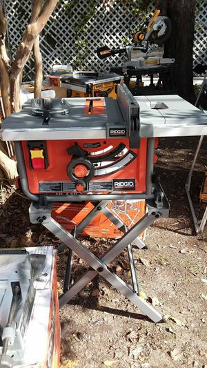 Ridgid 10in table saw w stand for Sale in McKinney, TX