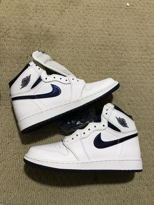 New Nike air Jordan 1 high og bg navy basketball shoes for Sale in Fremont, CA