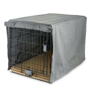 "You & Me Grey Dog Crate Cover, 19"" L, Roll up Doors , XS Brand New for Sale in Las Vegas, NV"