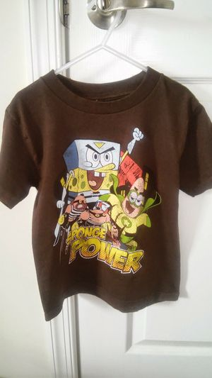 4/5 size boys ™Nickelodeon Spongebob Brown t shirt for Sale in Falls Church, VA