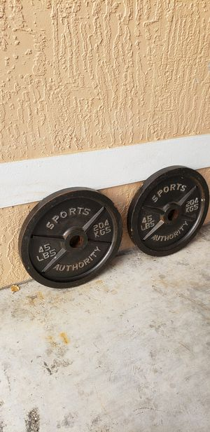 Olympic Weight Set   45 Pound Plates for Sale in Miami, FL