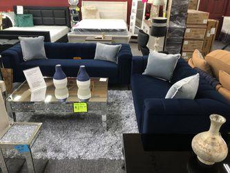 Blue Velvet Sofa AND Loveseat R9MVW for Sale in Irving,  TX