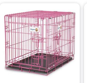 Small pink dog crate cage precision brand for Sale in Cleveland, OH