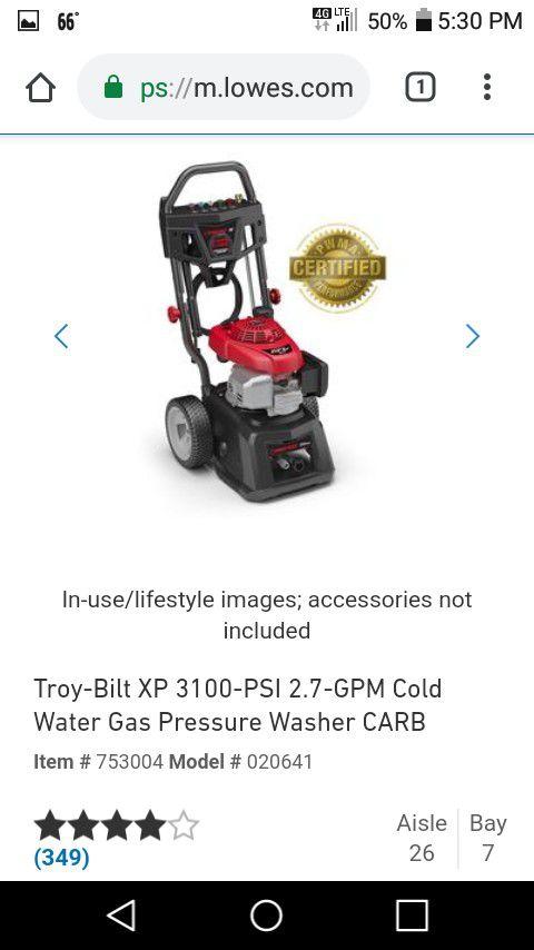Troy-Built 3100 PSI Pressure Washer
