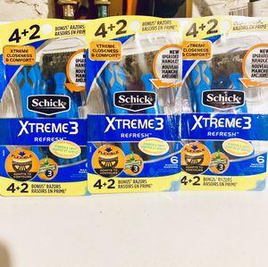SCHICK XTREME 3 BONUS PACK RAZORS🚹 for Sale in New Britain, CT